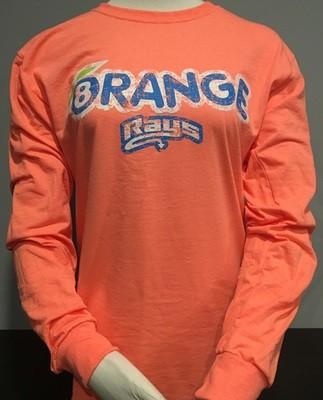 Orange Distressed LS T-shirt Unisex