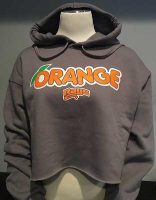 Orange Rays Cropped Hoodie