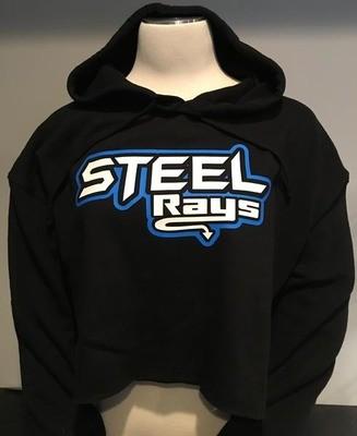 Steel Rays Cropped Hoodie