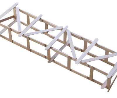 how to make a beam bridge with popsicle sticks