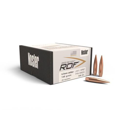 NOSLER RDF 6.5mm 140 Grain Bullet (100ct)