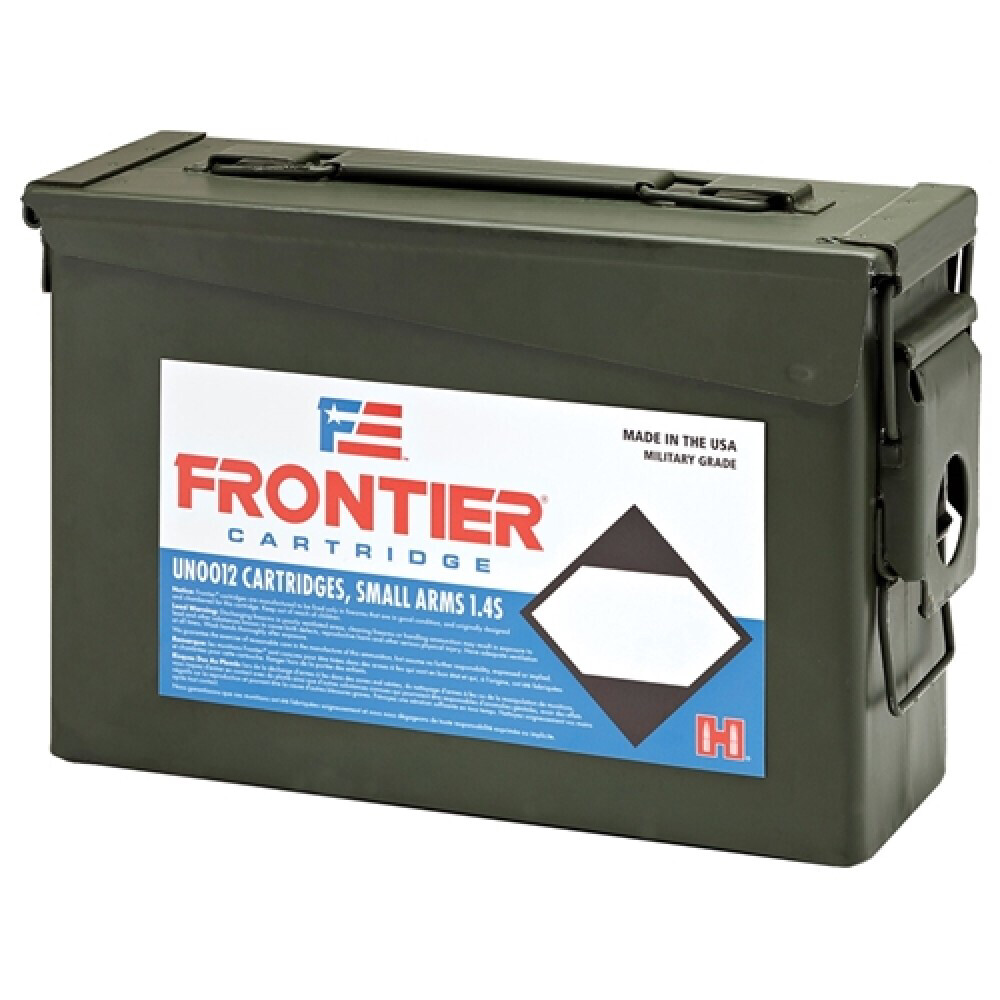 Frontier Cartridge Military Grade Ammunition 223 Remington 55 Grain- Ammo Can of 500