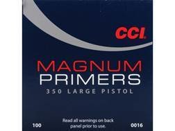 CCI LARGE PISTOL MAGNUM PRIMERS #350 - BOX/1000
