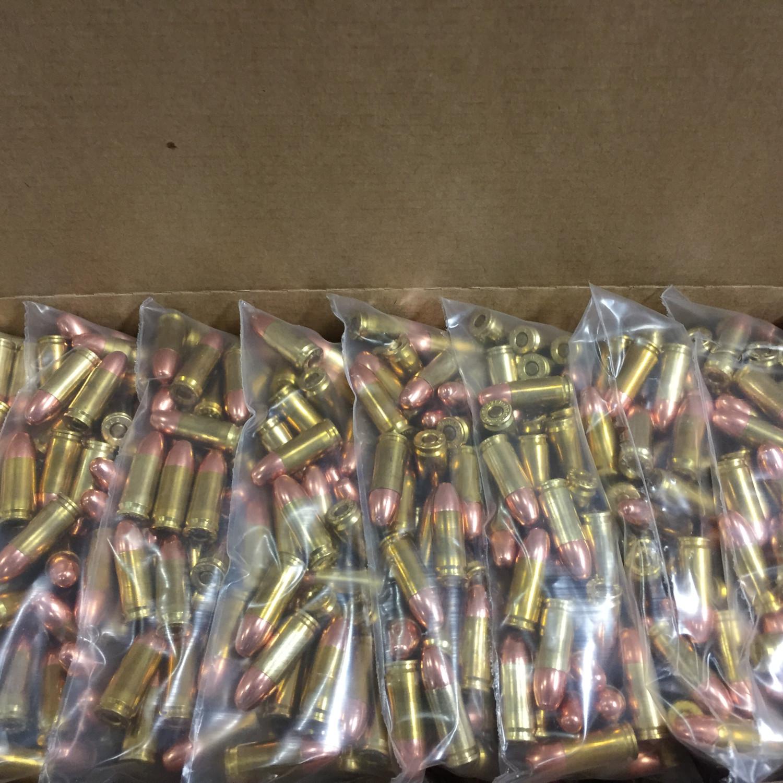 WASP 9mm 147gr TMJ -RN FP Remanufactured ammunition Bulk Packaged-500,