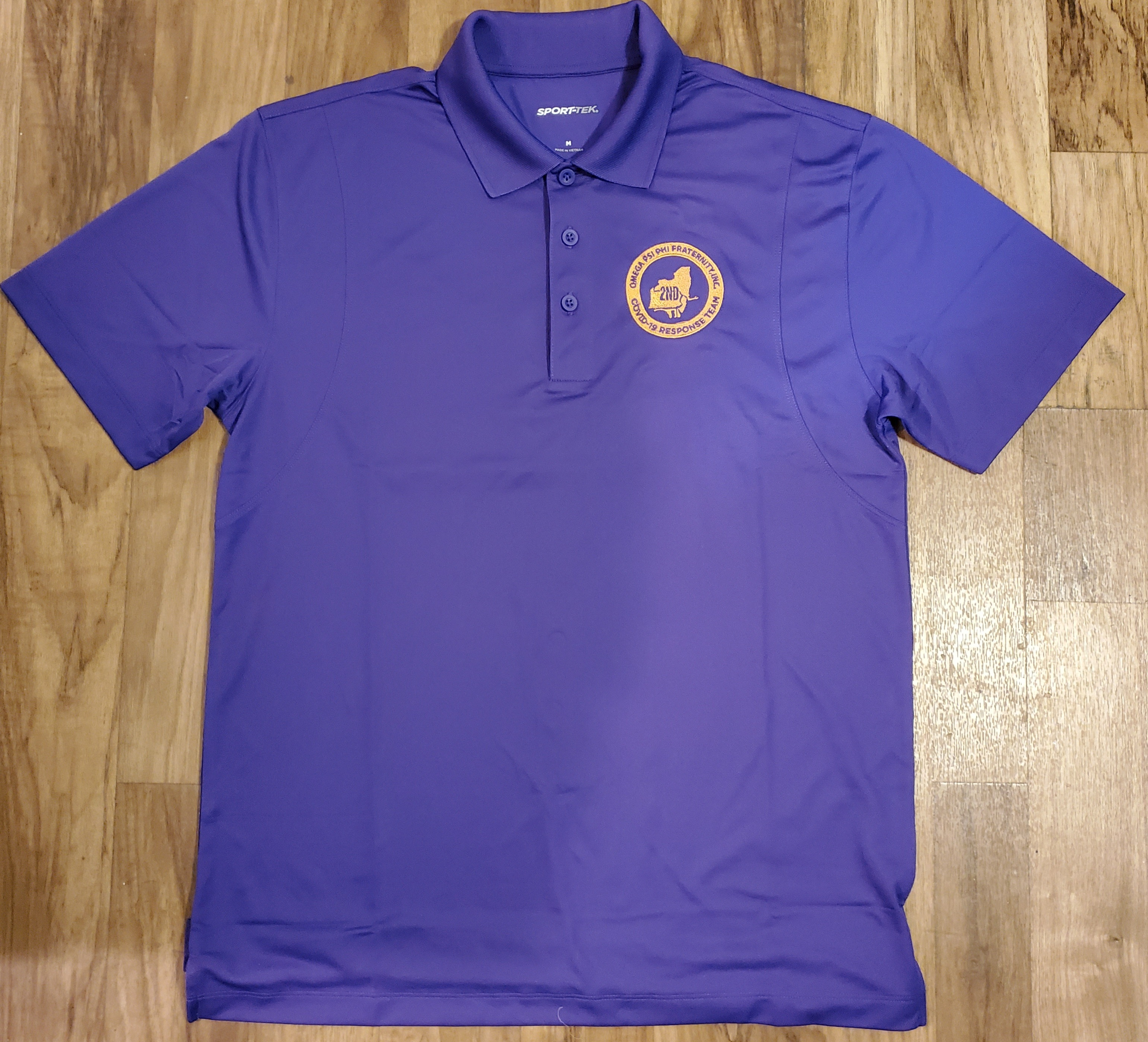 Omega Covid 19 2nd District Task Force-Purple Polo C19TPP001