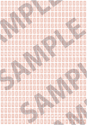 White Text Peach 1 - 'Feeling Good' Tiny Numbers