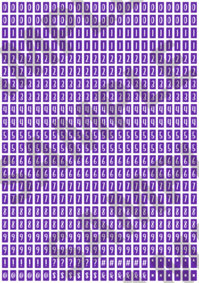 White Text Purple 2 - 'Feeling Good' Tiny Numbers