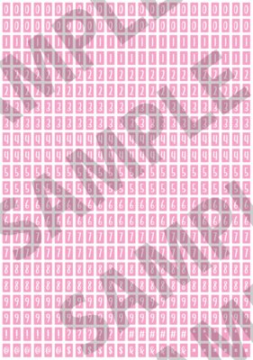 White Text Pink 1 - 'Feeling Good' Tiny Numbers