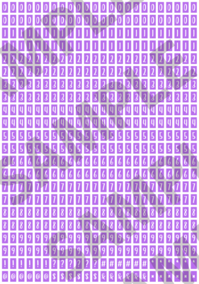 White Text Purple 1 - 'Feeling Good' Tiny Numbers