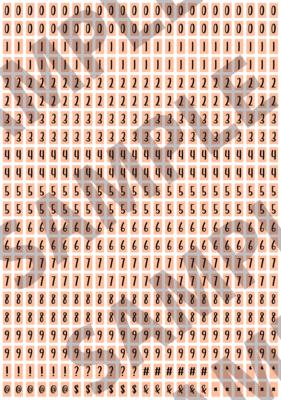 Black Text Bright Orange 1 - 'Feeling Good' Tiny Numbers