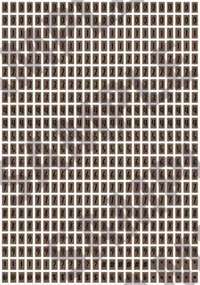 Black Text Brown 2 - 'Feeling Good' Tiny Numbers