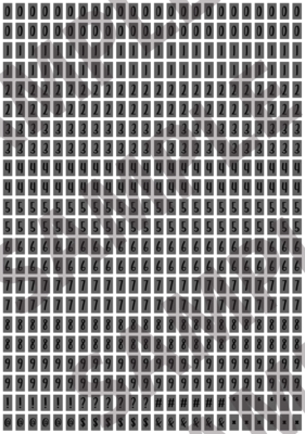Black Text Dark Gray 1 - 'Feeling Good' Tiny Numbers