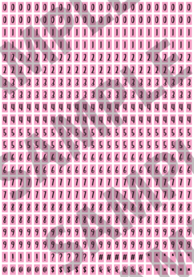 Black Text Pink 1 - 'Feeling Good' Tiny Numbers