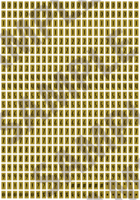 Black Text Yellow 2 - 'Feeling Good' Tiny Numbers