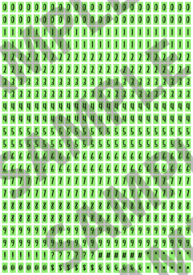 Black Text Green 1 - 'Feeling Good' Tiny Numbers