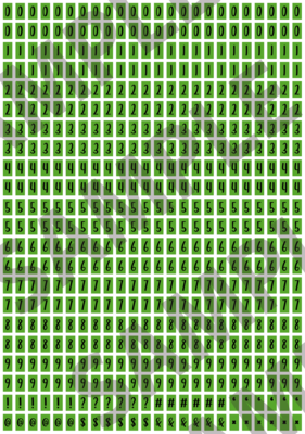 Black Text Green 2 - 'Feeling Good' Tiny Numbers