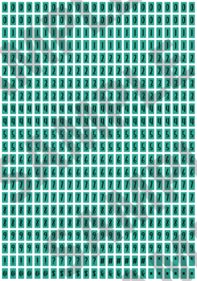Black Text Turquoise 2 - 'Feeling Good' Tiny Numbers