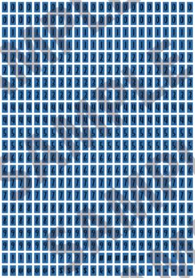 Black Text Blue 2 - 'Feeling Good' Tiny Numbers