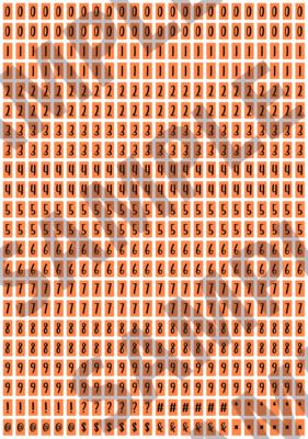 Black Text Bright Orange 2 - 'Feeling Good' Tiny Numbers