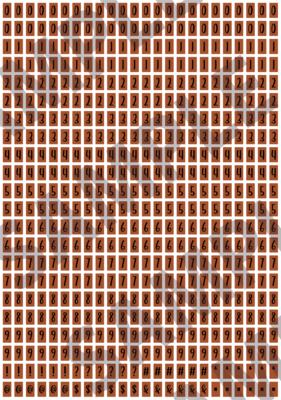 Black Text Orange 2 - 'Feeling Good' Tiny Numbers
