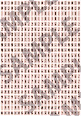 Black Text Peach 1 - 'Feeling Good' Tiny Numbers