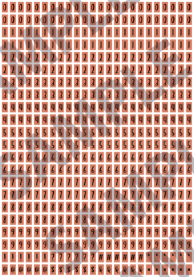 Black Text Peach 2 - 'Feeling Good' Tiny Numbers