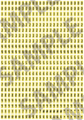 Black Text Yellow 1 - 'Feeling Good' Tiny Numbers