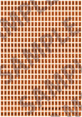 Black Text Orange 1 - 'Feeling Good' Tiny Numbers