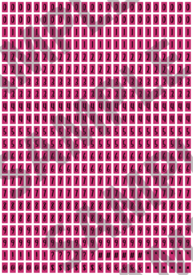 Black Text Pink 2 - 'Feeling Good' Tiny Numbers