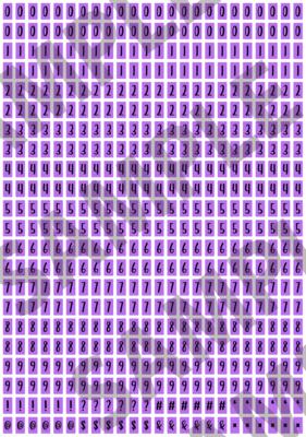Black Text Purple 1 - 'Feeling Good' Tiny Numbers