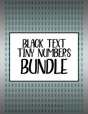 Bundle #22 Tiny Numbers - Black Text