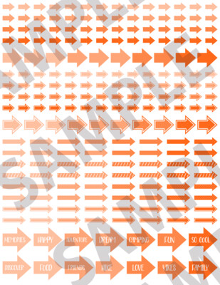 Bright Orange - Assorted Arrows