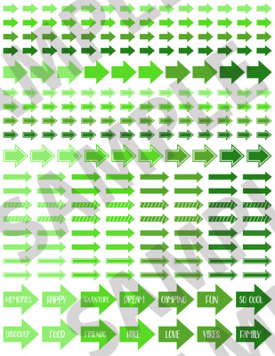 Green - Assorted Arrows