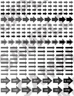 Dark Gray - Assorted Arrows