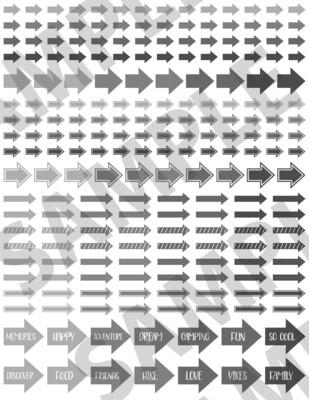 Light Gray - Assorted Arrows
