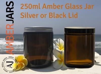 25 x 250ml Amber Glass Jar - BUY bulk and SAVE