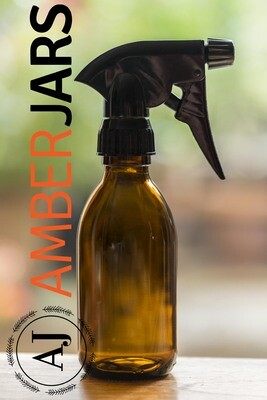200ml Amber Glass Syrup Bottles with trigger spray