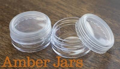 10gm Styrene/plastic Lip Balm Pots, Cosmetic sample, bead storage