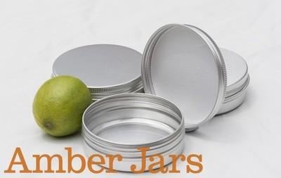 100ml Aluminium Jar with Wadded Lid  Candle Jar Beard Balm Jar Body Butter