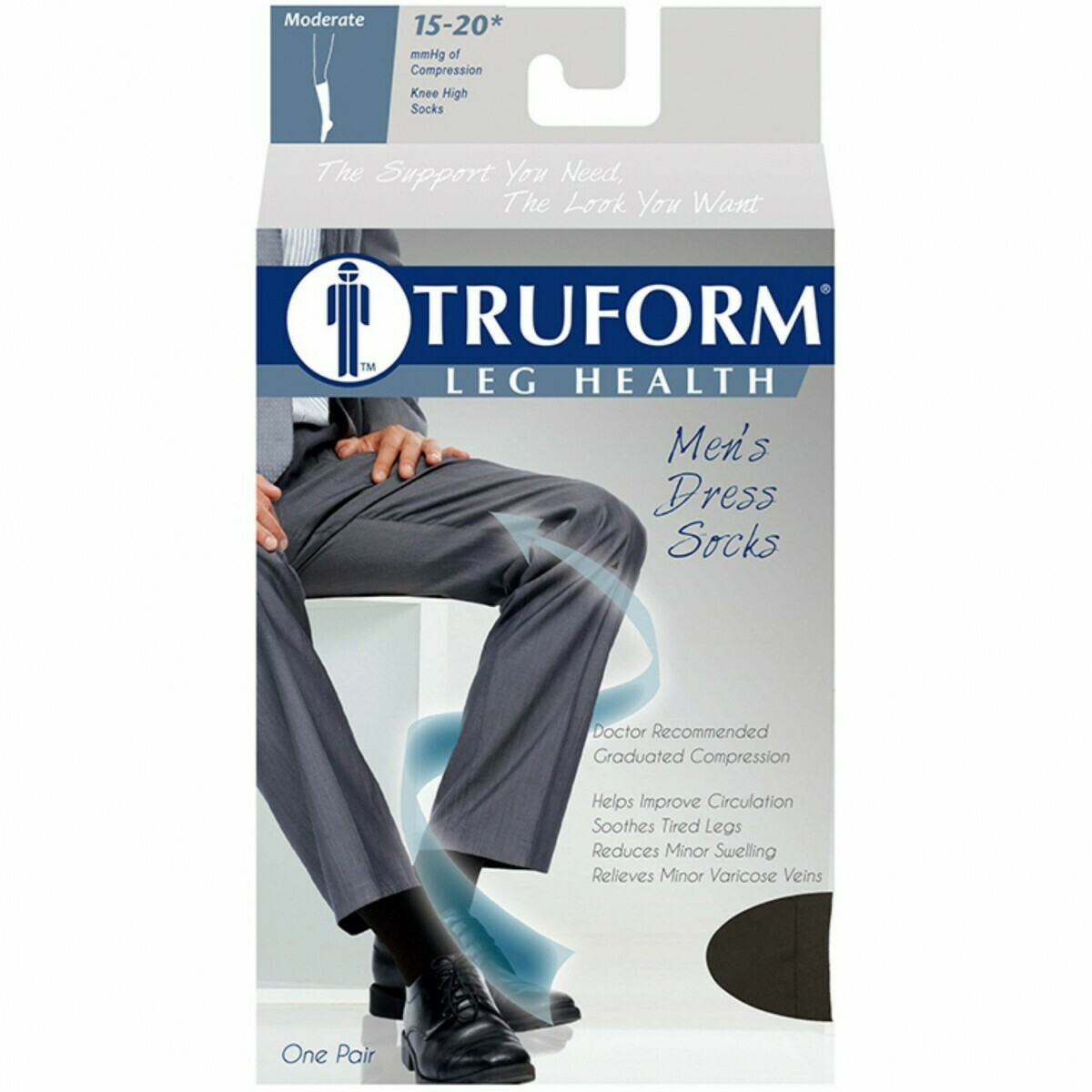 Compression Socks TRUFORM 15-20 mmHg Knee High
