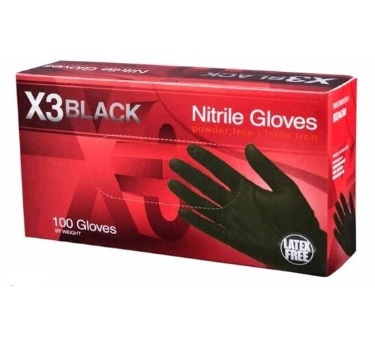 GLoves X3 Black Industrial Nitrile