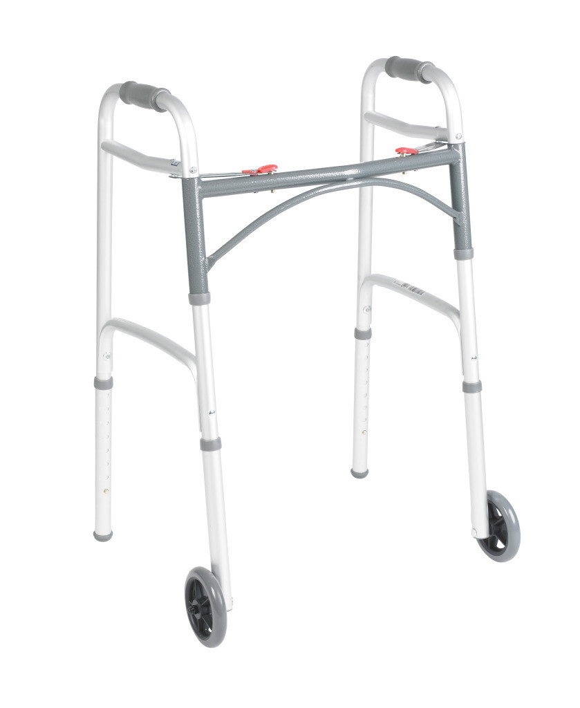 Two-Button Folding Walkers