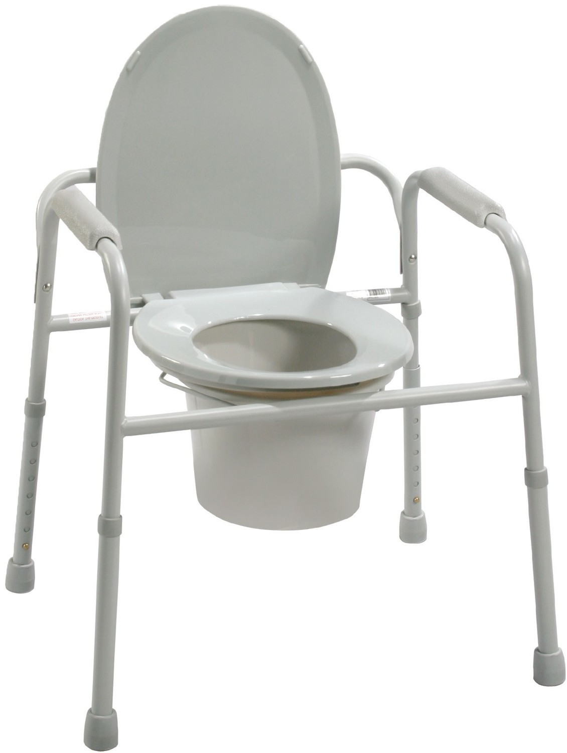 Commode with Bucket and Splash Guard