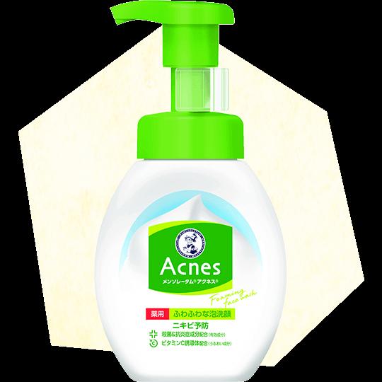 ROHTO Mentholatum Acnes Medicated Foaming Face Wash