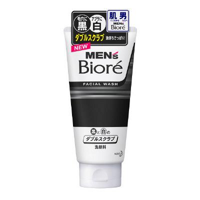 Mens Bioré Facial Wash Double Scrub