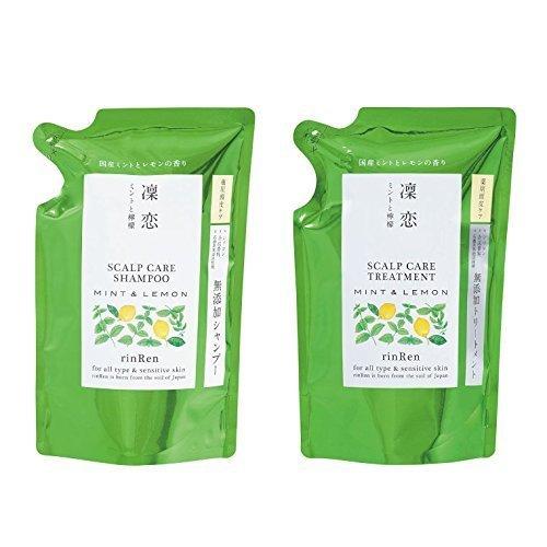 RinRen Scalp Care Treatment Mint & Lemon Shampoo / Conditioner Refil Set - FRETE GRÁTIS