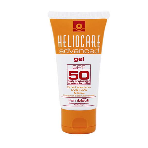 HELIOCARE  ADVANCE GEL SPF 50  200ml. Con ingredientes antioxidantes y reparadores del daño solar con textura gel, sin alcohol, que se absorbe fácilmente.