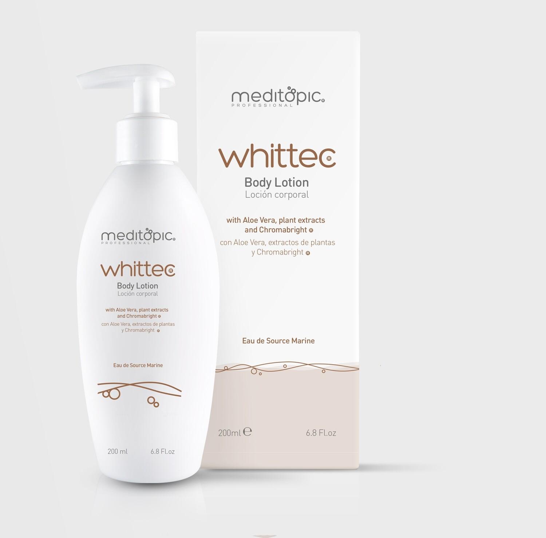 Whittec. Loción de uso Corporal para Blanqueamiento de piel, zonas intimas, entrepierna, brazos. Sistema Avanzado. 200ml