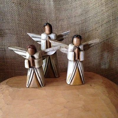 Handcarved Angels