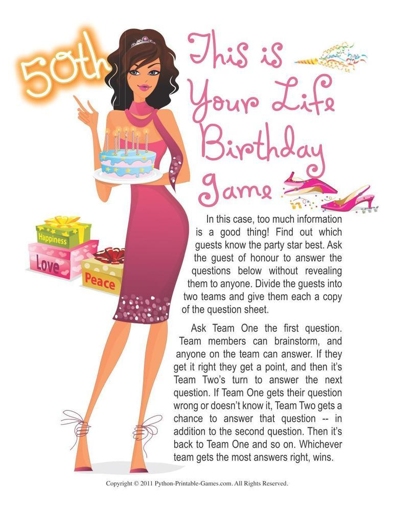 Birthday Party: 50 Years Old - This Is Your Life